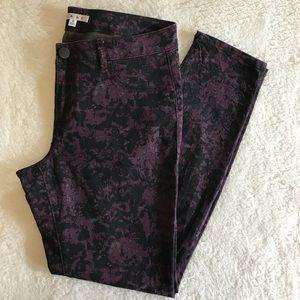 CAbi Twilight Purple Skinny Jeans